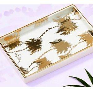 Lilly Pulitzer PALMS Ceramic Jewelry Trinket Tray